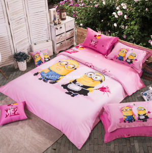 Textile 100% Cotton High Quality Bedding Set for Home/Hotel Comforter Duvet Cover Bedding Set (Minions2) pictures & photos