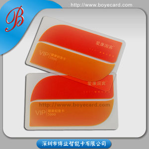 SGS Approved PVC Plastic Transparent VIP Card pictures & photos