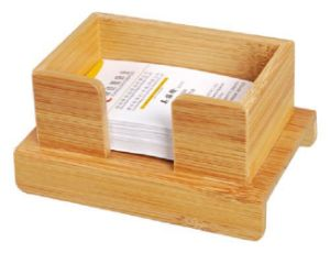 Bamboo Business Card Display Stand Holders pictures & photos