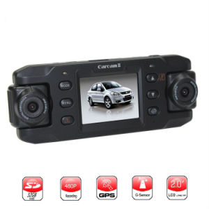 HD Dual Camera Car DVR with GPS pictures & photos