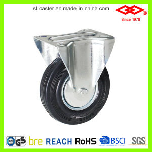 Black Rubber Swivel Plate Caster (P102-11D080X25) pictures & photos