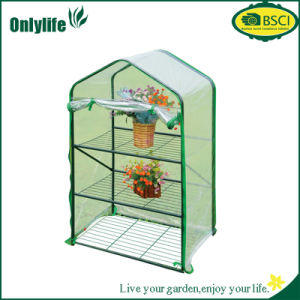 Onlylife 4-Tier PC Frame Foldable Garden Plastic Greenhouse pictures & photos