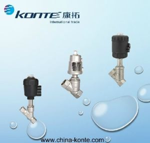 304&316 Stainless Steel Pneumatic Angle Piston Valves for Hot Sales pictures & photos