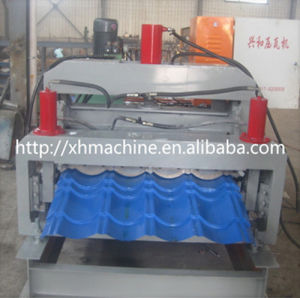 Double Layer Glazed Tile Roll Forming Machine (XH828-900)