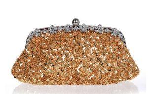 Fashion Ladies Sequins Evening Bag Metal Chain Clutch Purses (LDO0-01632) pictures & photos