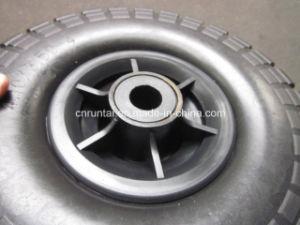 Black Color Plastic Rim Good Quality PU Form Wheel (3.50-4) pictures & photos