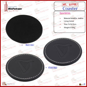 Simply Design Leather Round Coasters (6499R1) pictures & photos