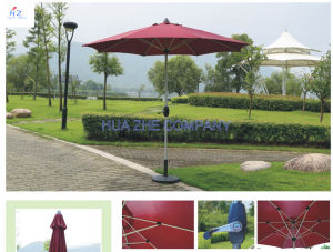 Hz-Um125 10ft (3m) Round Umbrella Crank Umbrella with Tilt Outdoor Parasol Garden Umbrella Patio Umbrella pictures & photos