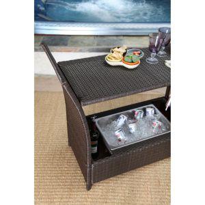 Well Furnnir T-099 Sophisticated Wicker Bar Cart pictures & photos