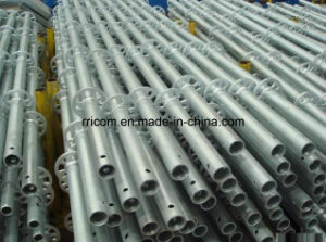 Hot DIP Galvanized Ringlock Scaffold Standards/ Verticals pictures & photos