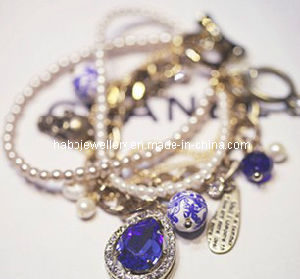 Pearl Bracelet Set with Blue Water Diamond  (XBL12602) pictures & photos