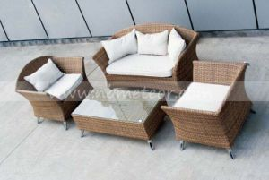 Garden Rattan Outdoor Furniture Poly Rattan / PE Wicker Sofa Set pictures & photos