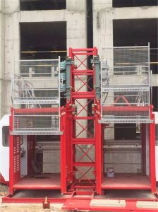 Construction Hoist Single Cage Elevator Made by Hsjj pictures & photos