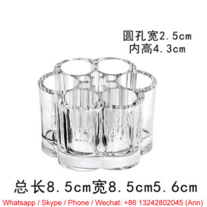 Flower Shape Acrylic Cosmetic Box pictures & photos