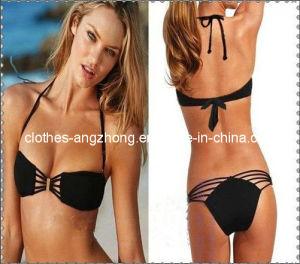 Sexy Women′s Black Bathing Suits Bikini