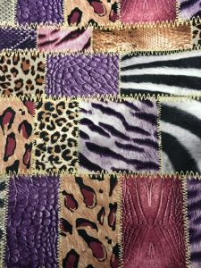 100%Polyester Knitting Velvet with Printing Design pictures & photos