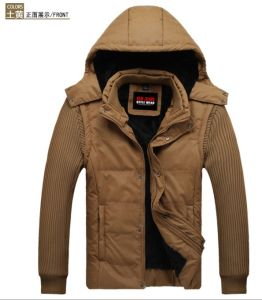 Mens Winter Jacket with Detachable Hood (SY-M13) pictures & photos