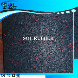 Black with EPDM Flecks Commercial Gym Fitness Rubber Tile pictures & photos