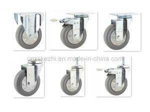Medium Duty Type Rubber Caster (KMx1-M4) pictures & photos
