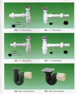 "1-1/2"" and 1-1/4"" PVC Bottle Drain for Sink, Basin and Floor Waste pictures & photos"