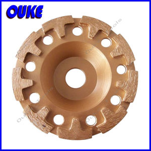 "Cup Shaped T"" Segmented Diamond Cup Grinding Wheel pictures & photos"