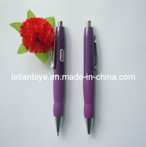 Customized Design Metal Ball Pen with Rubber Grip (LT-Y025) pictures & photos