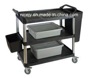 Small Plastic Utility Cart for Restaurant&Hospital-Only The Cart
