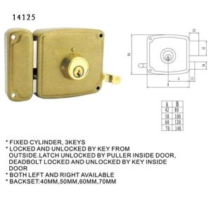 Door Rim Lock Door Lock Body pictures & photos