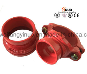 "High Quality Ductile Irongrooved Mechanical Tee (FM/UL) 139.7*2"" pictures & photos"