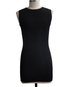 75%Viscose 25%Nylon Sleeveless Tunic Sweater Dress pictures & photos