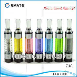 New Style E Cig Clearomizer, T3s Vaporizer Pen (T3S)