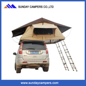 4X4 4WD Double Ladder Large Roof Top Camp Tent for Family Camping pictures & photos