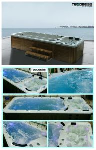 Outdoor Acrylic 5.8 Meter Fiberglass Massage Swimming Pool