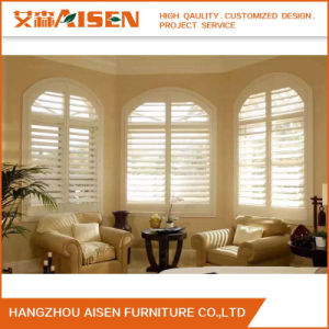 2017 Factory Direct Basswood Wood Plantation Shutter for Bathroom pictures & photos