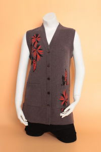 Gn1617 Knitted Cardigan Waistcoat/ Yak Wool Waistcoat/Cashmere Waistcoat/ Wool Waistcoat pictures & photos