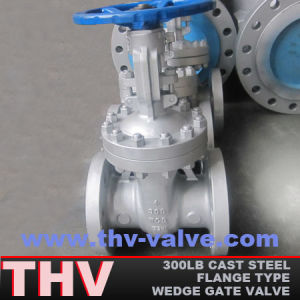 300 Lb Ast Steel Flange End Wedged Gate Valve (Z40H)