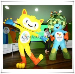 Vinicius and Tom Mascot Costume Welcome Rio Olympic Games in Brazil 2016