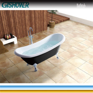Black Acrylic Bathtub with Legs (BL1010TB) pictures & photos