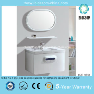 Round Silver Mirror Wall Mounted Bathroom Vanity (BLS-16055) pictures & photos