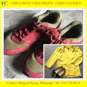 Import Original Cream Quality Second Hand Shoes pictures & photos