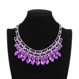 Alloy and Crystal Necklace Jewelry (40703)