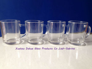 Clear Drinking Glass Cup with Handle High Quality pictures & photos