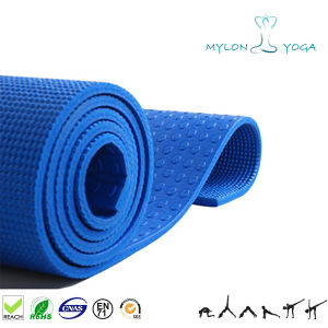 Latex Free Extra Large Size Microfiber Full Printed TPE Jute Yoga Mat with Fabric
