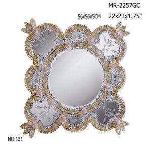 Flower Shape of Crystal Wall Mirror pictures & photos