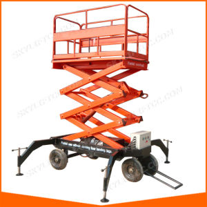 Vertical Portable Man Hydraulic Lifts for Sale pictures & photos