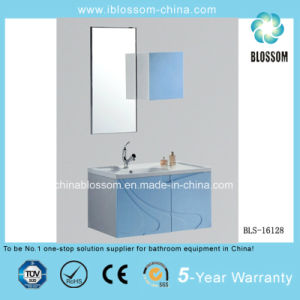 Modern Blue Wall-Hung PVC Bathroom Cabinet, Vanity with CE (BLS-16128) pictures & photos