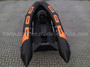 13.8ft Fiberglass Hull Rib Boat with CE Rigid Hull Inflatable Boat with Outboard Motor Fishing Boat pictures & photos