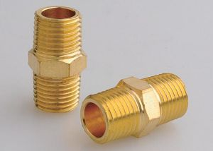 Male Thread Brass Nipple pictures & photos