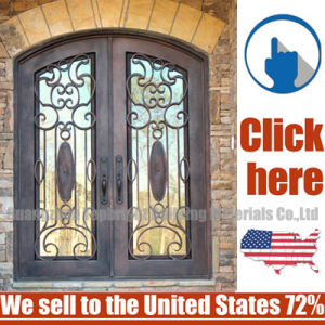 Cheap Price Wrought Iron Door pictures & photos