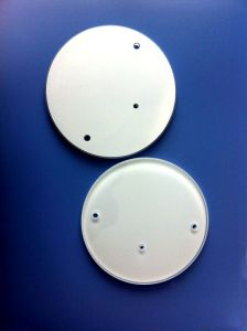 Optical Float Glass Windows with Holes & White Painting pictures & photos